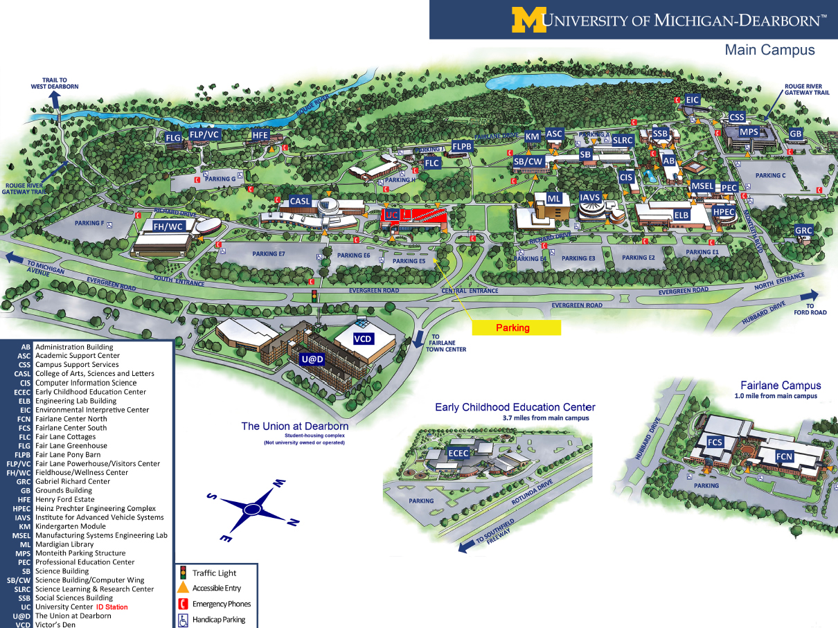 uofm dearborn campus map Dearborn Id Issuing Station University Of Michigan Finance