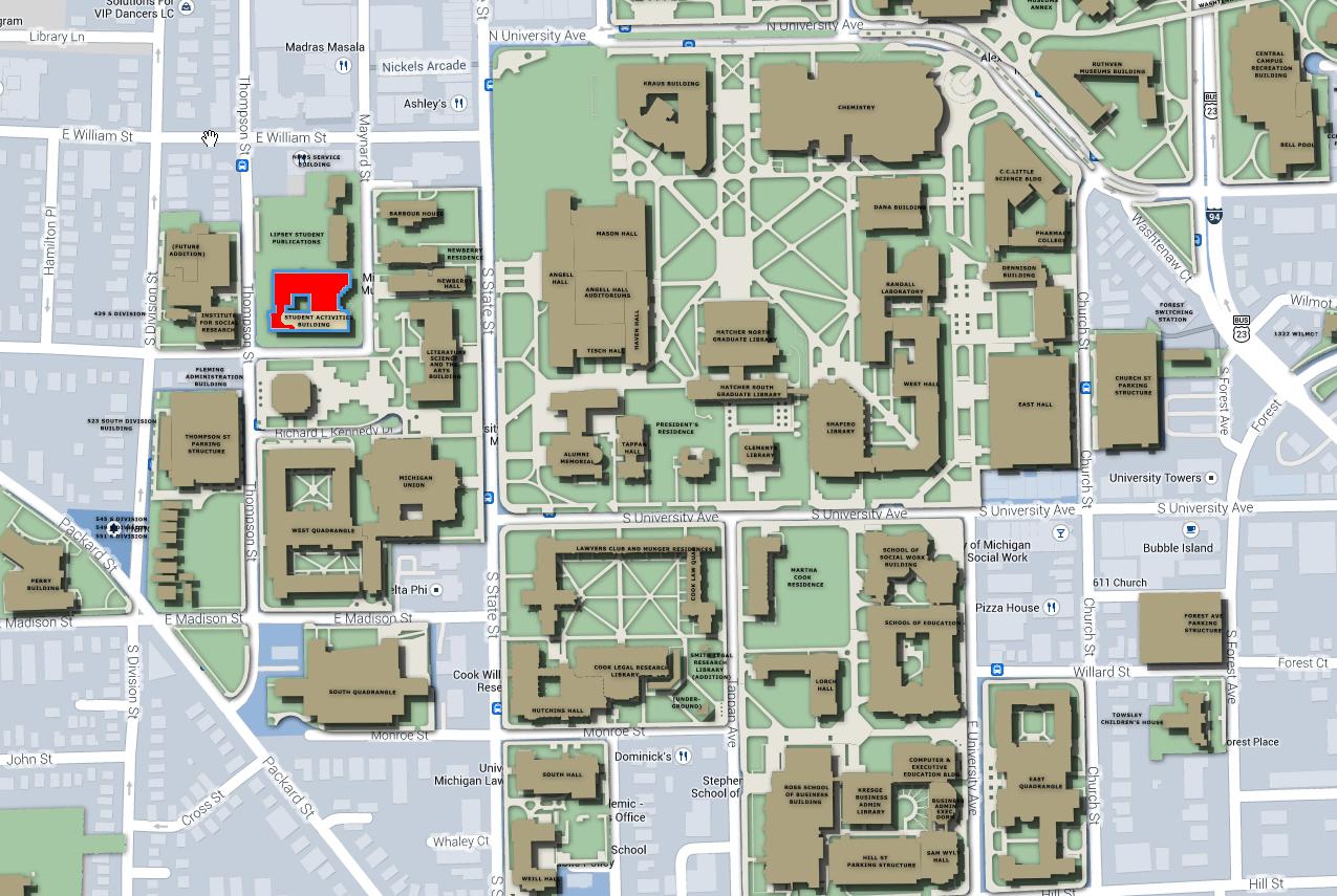 Mcard Center - Student Activities Building   University of Michigan ...